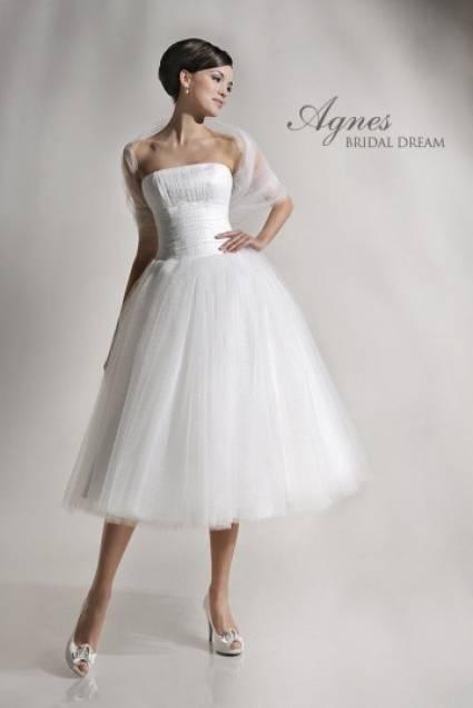 6d39a8c4e6 suknia ślubna Agnes Bridal Dream tiulowa - Krótkie suknie ślubne 3 4 ...
