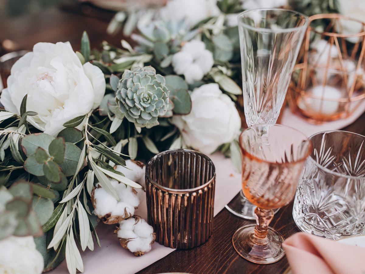 Kryształowe kieliszki ślubne