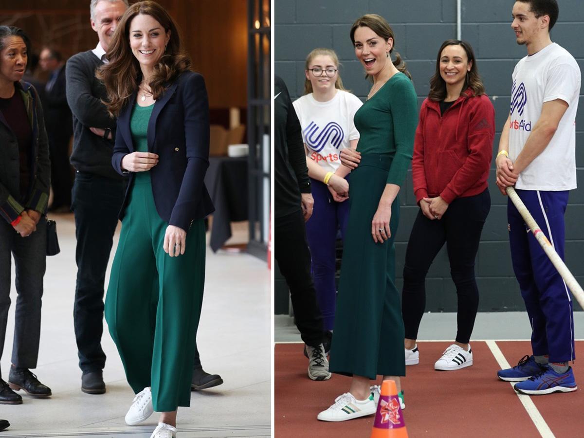 księżna Kate w spodniach z Zary