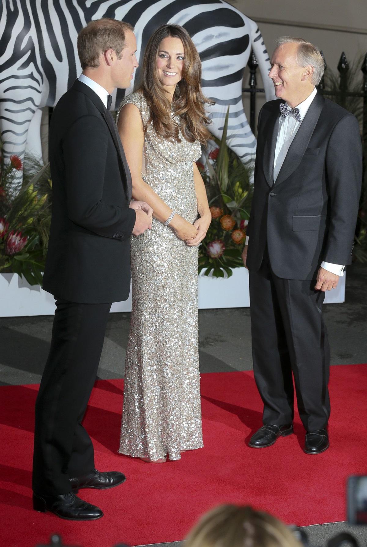 Księżna Kate w cekinowej sukni