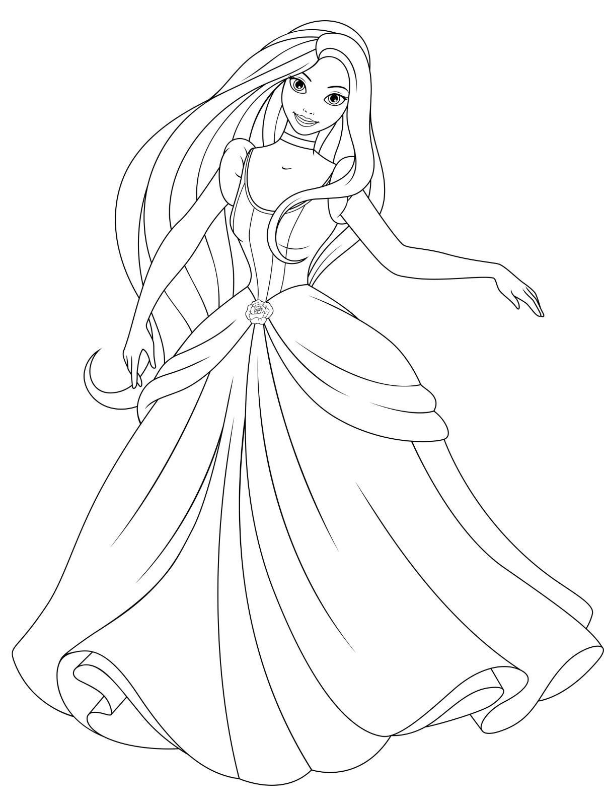 Księżniczka kolorowanka