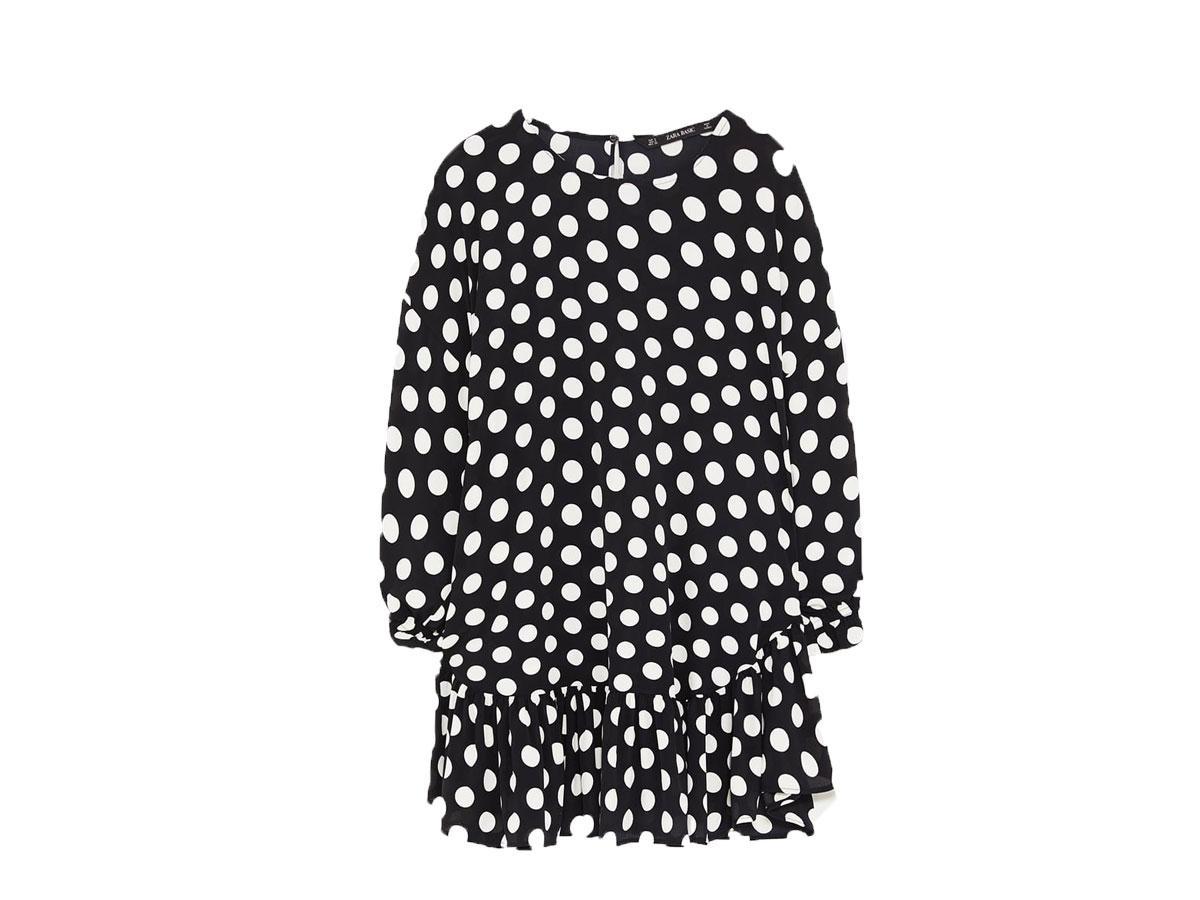 Tunika w kropki, Zara, cena ok. 59,90 zł (ze 109,00 zł)