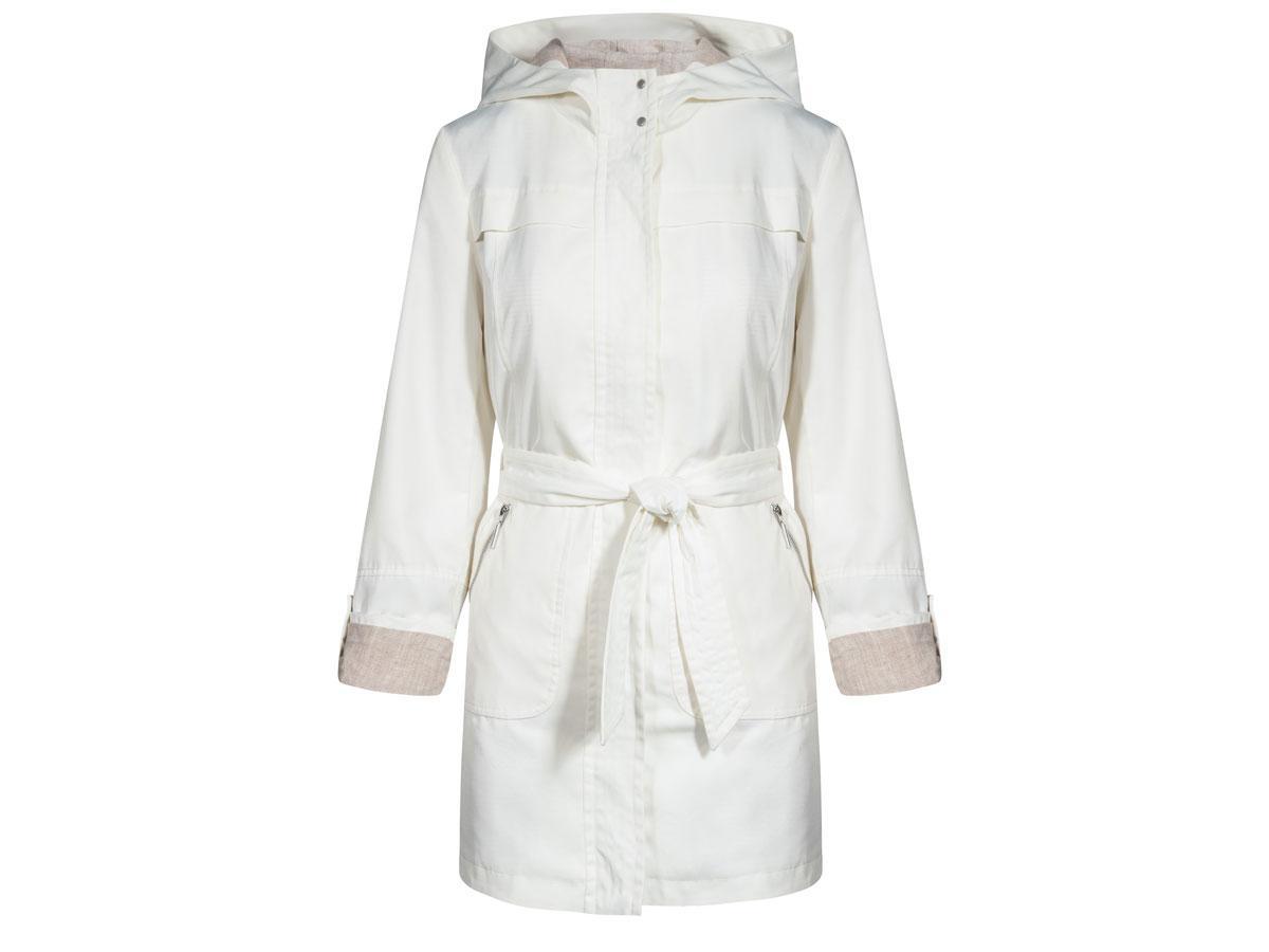 Biała kurtka przeciwdeszczowa, Quiosque, cena ok. 449,90 zł