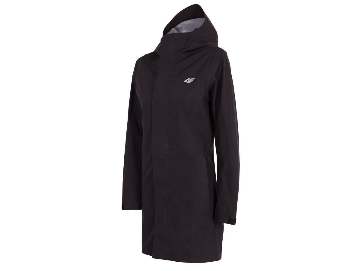 Czarna kurtka przeciwdeszczowa, 4F, cena ok. 399,99 zł