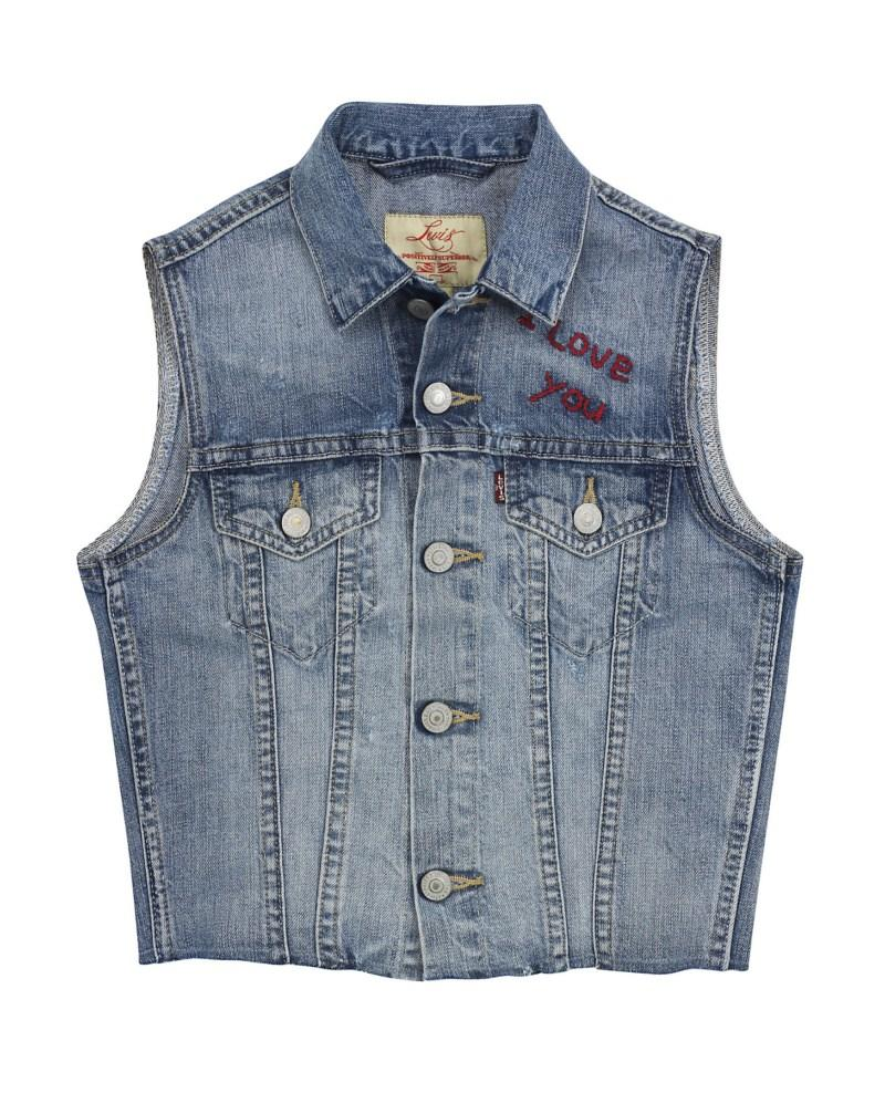 niebieska kamizelka Levis dżinsowa - moda 2011