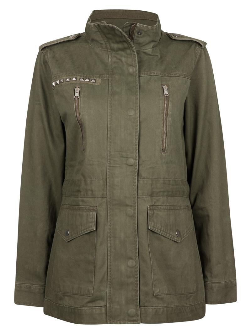 modna kurtka Cubus w kolorze khaki - moda na jesień i zimą