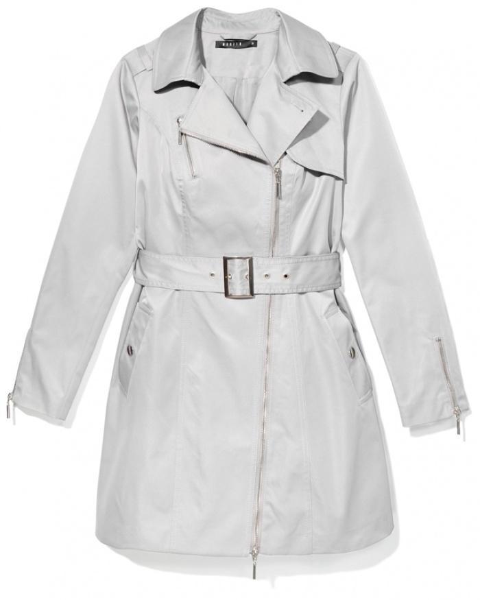 elegancki płaszcz Mohito w kolorze szarym - moda na wiosnę 2013