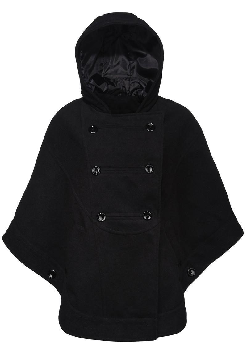 168b386cf Kurtki i płaszcze New Yorker - kolekcja damska na jesień/zimę. czarny  płaszcz New Yorker z kapturem ...