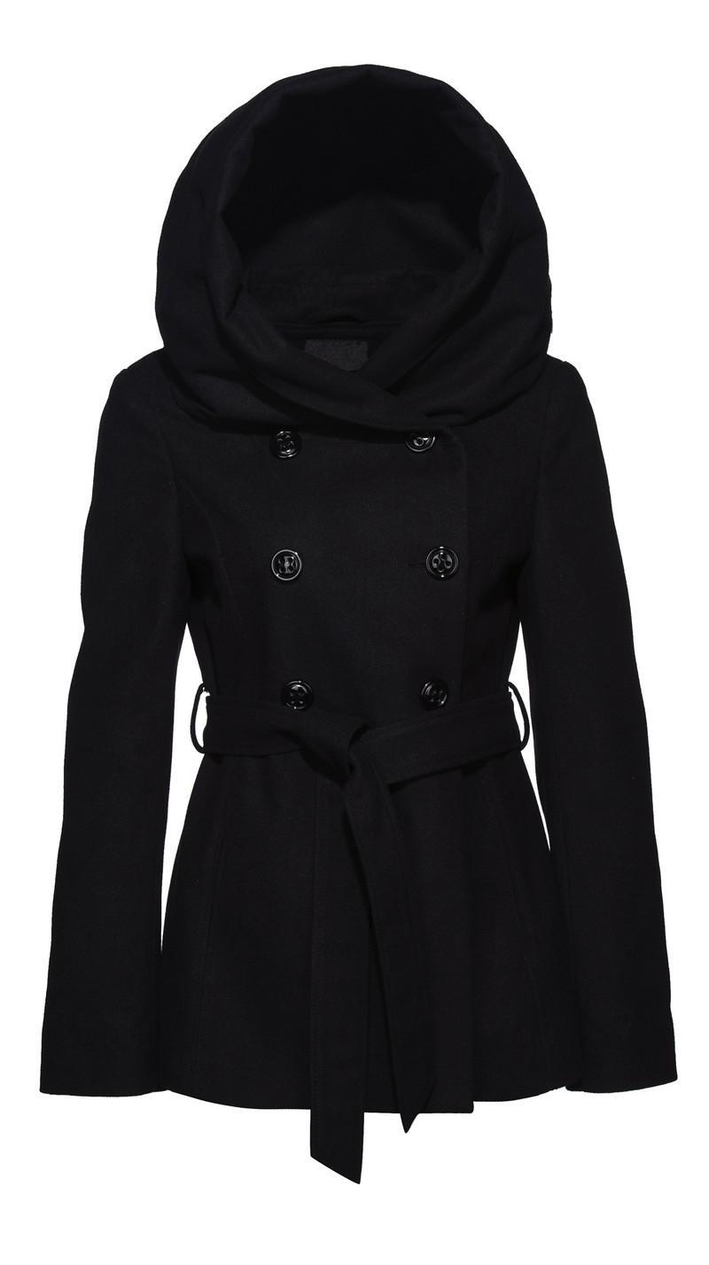f3f576b7 czarny płaszcz New Yorker z kapturem - trendy na jesień-zimę ...