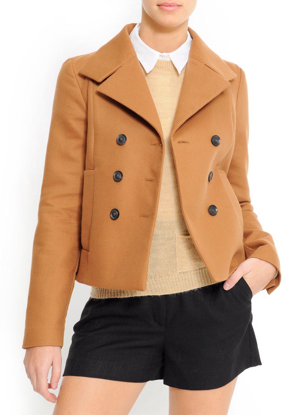 brązowa kurtka Mango - wiosenna kolekcja