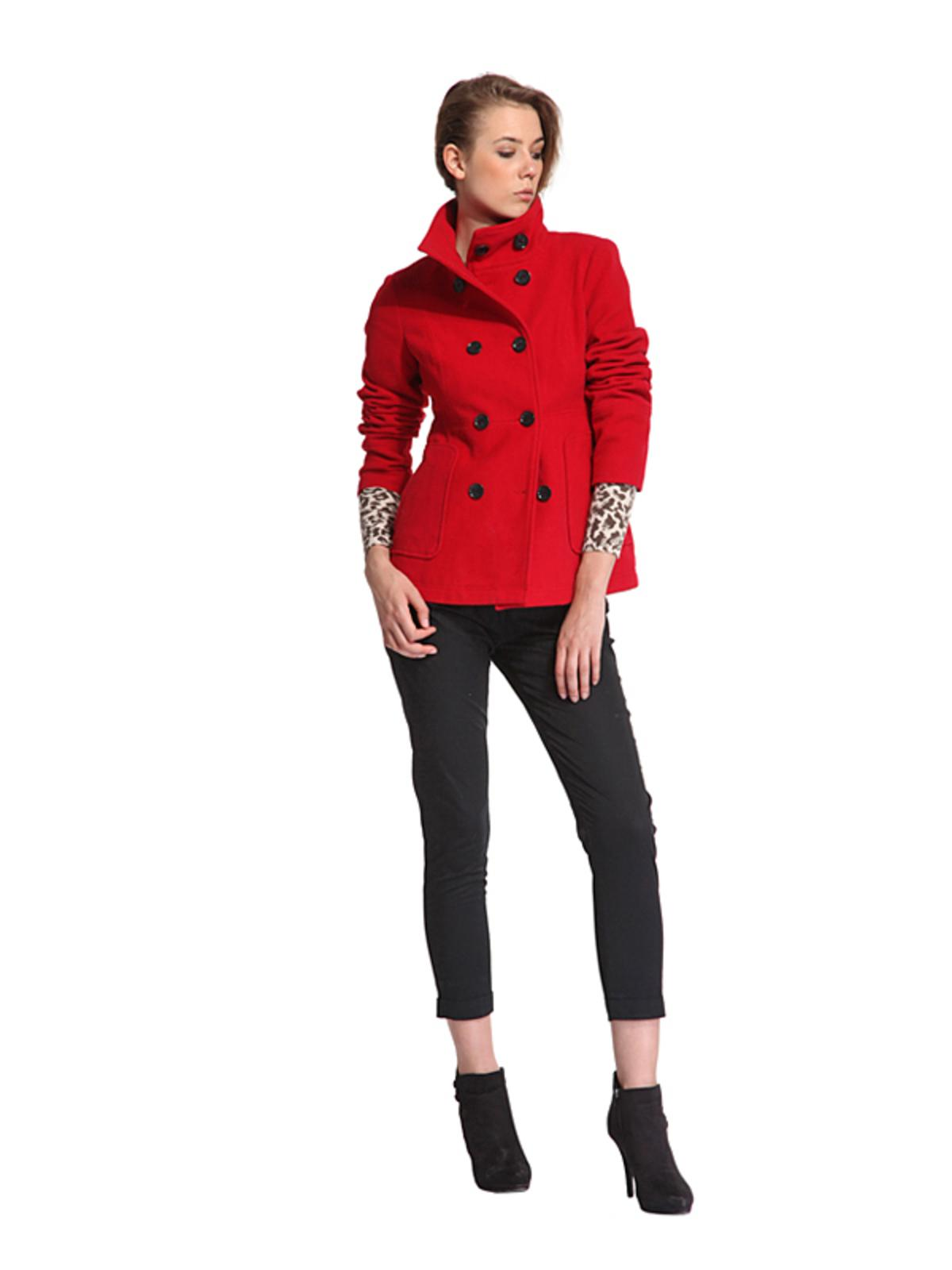 5f7629b3e0f4 Kurtki i płaszcze Top Secret na jesień i zimę 2013 14. czerwony płaszcz Top  Secret - moda ...