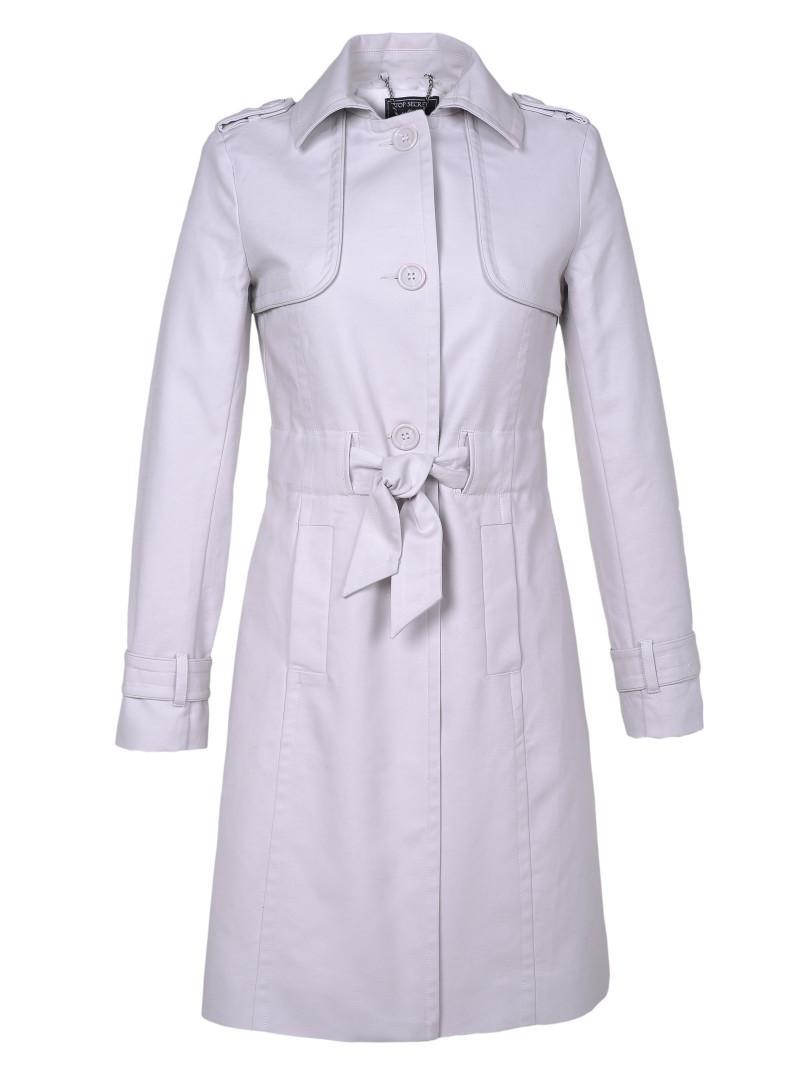 biały płaszczyk Top Secret - moda 2011