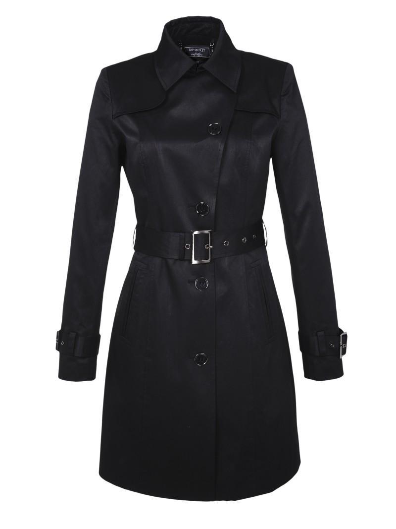 czarny płaszczyk Top Secret - moda 2011