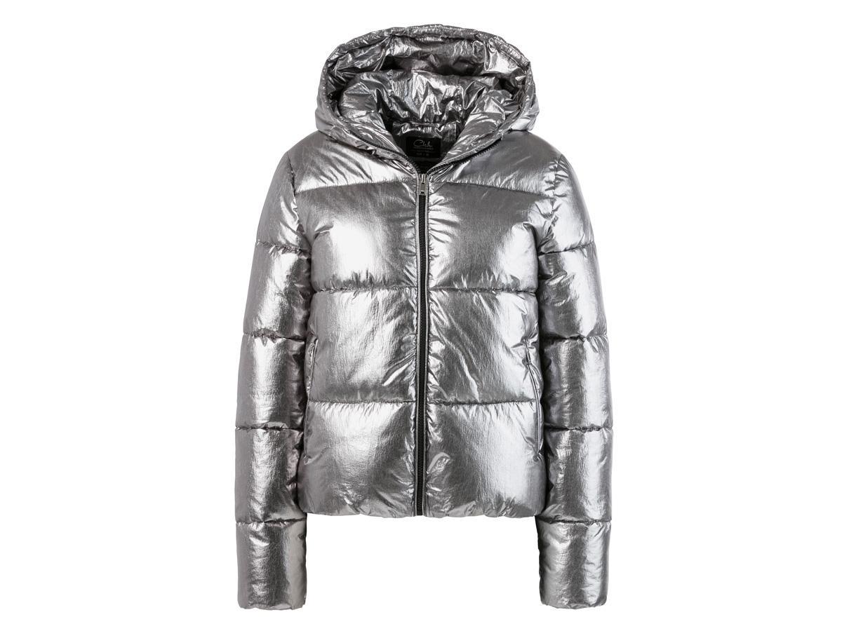 srebrna kurtka puchowa zara