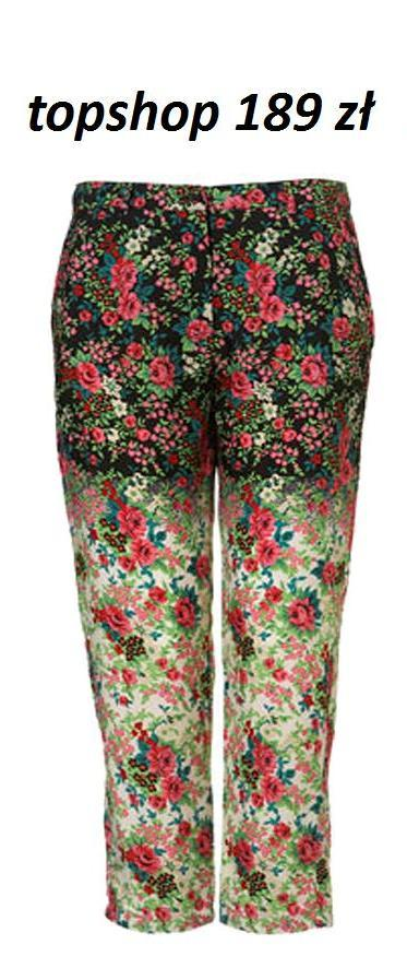 Kwieciste spodnie i legginsy na lato 2012