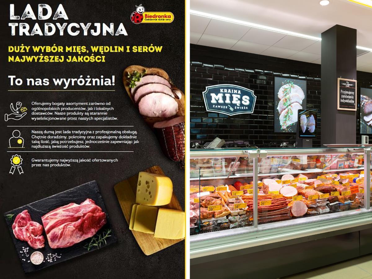 Lada mięsna, wędliniarska, serowa w Biedronce