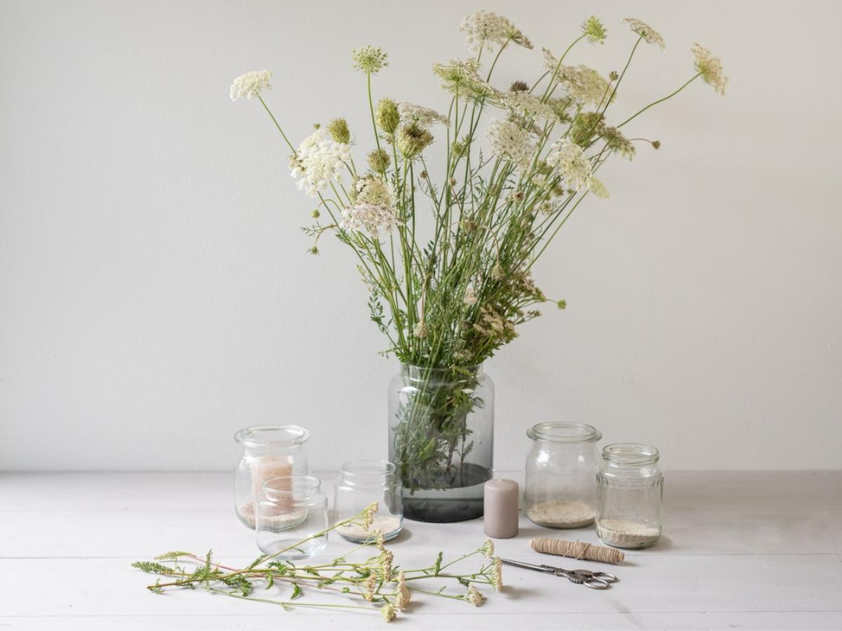 Lampion z kwiatami krok 1