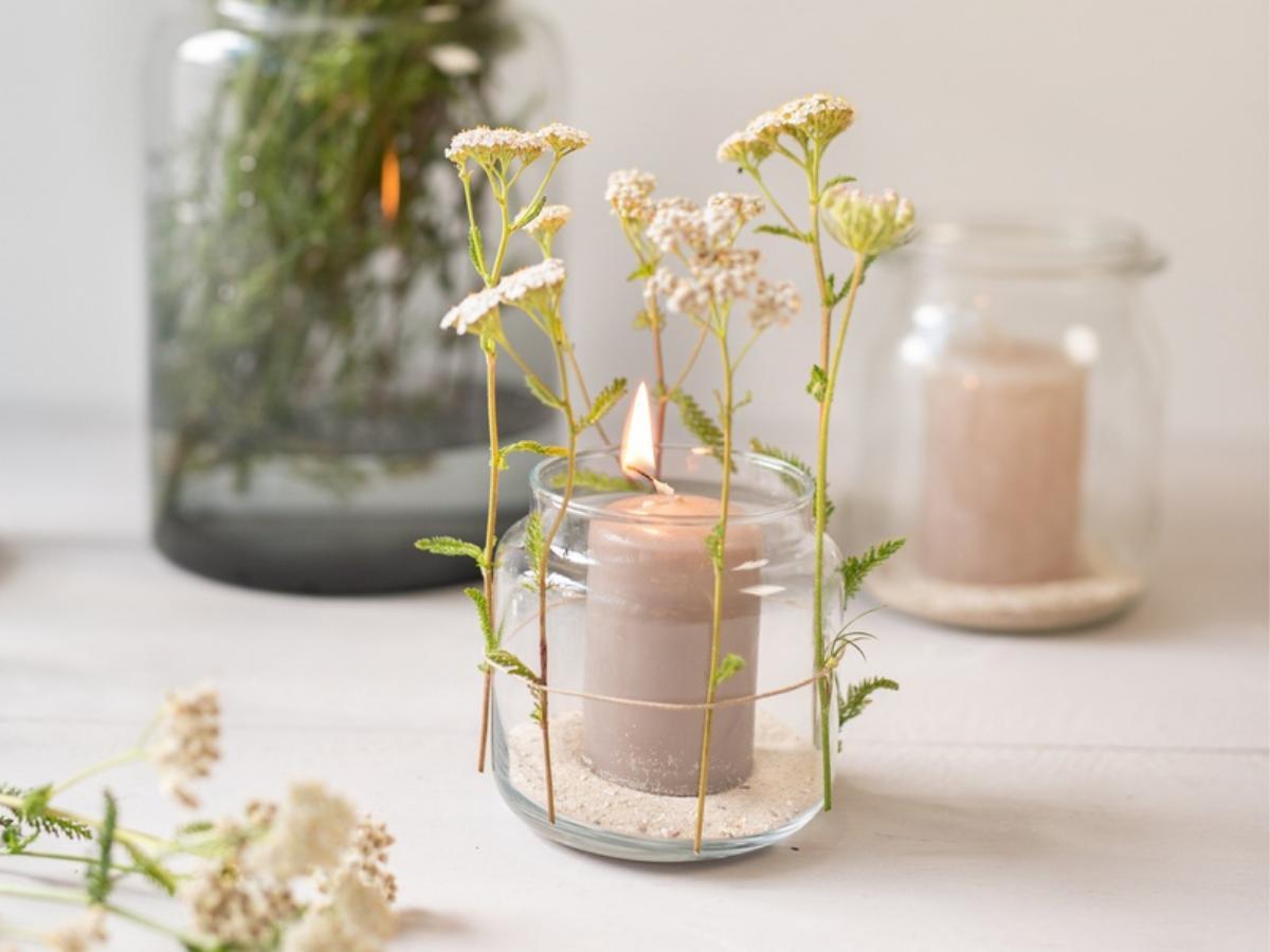 Lampion z kwiatami - krok 2