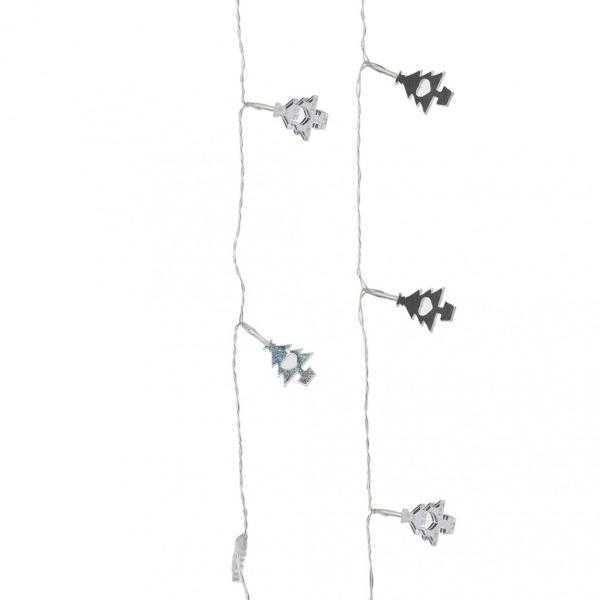 Lampki choinkowe  z elementami przypominającymi drzewka świąteczne . Home&You, 49 zł.