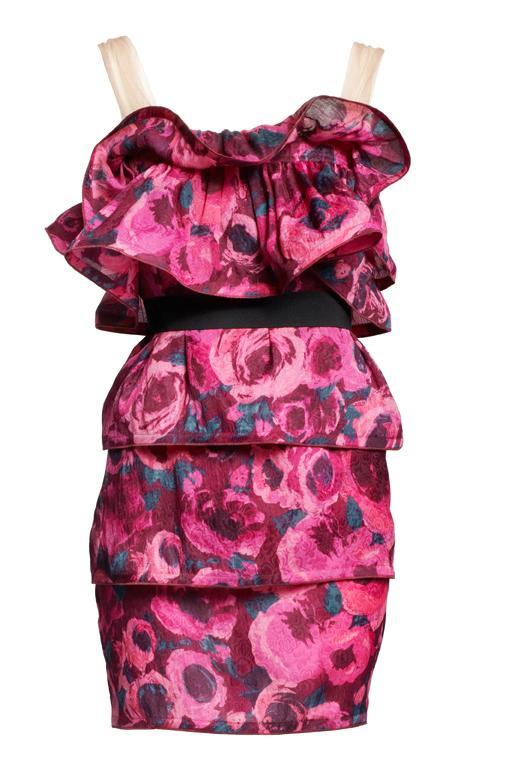 różowa sukienka H&M - moda 2010