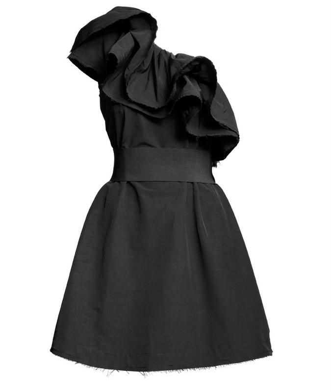 czarna sukienka H&M - jesień/zima 2010/2011