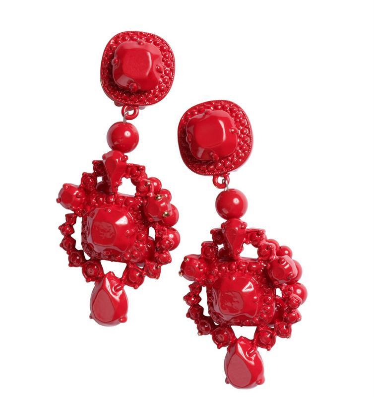 czerwone kolczyki H&M - jesień/zima 2010/2011