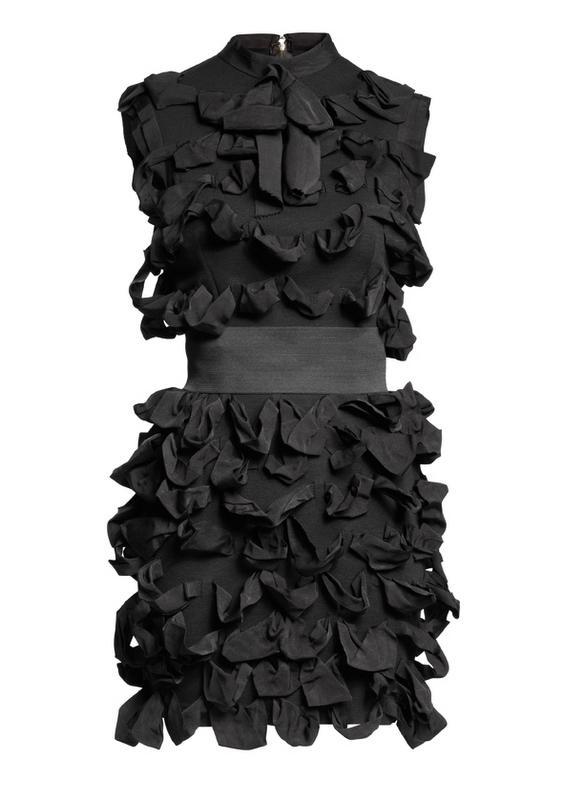 czarna sukienka H&M - moda zimowa
