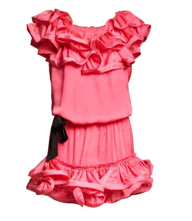 różowa sukienka H&M - jesień/zima 2010/2011