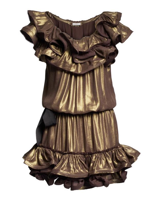 złota sukienka H&M - jesień/zima 2010/2011