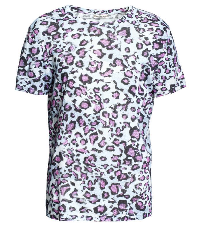 fioletowy t-shirt H&M - moda jesień/zima 2010