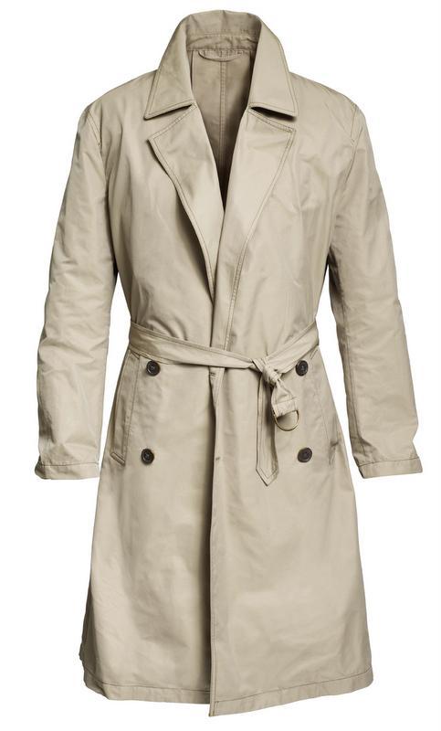beżowy płaszcz H&M - moda zimowa