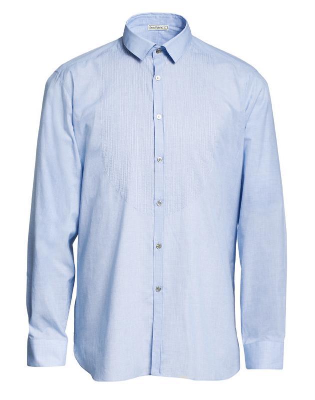 błękitna koszula H&M - moda zimowa