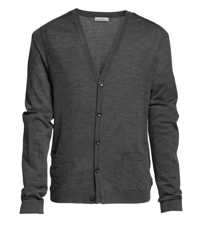 popielaty sweter H&M - moda zimowa