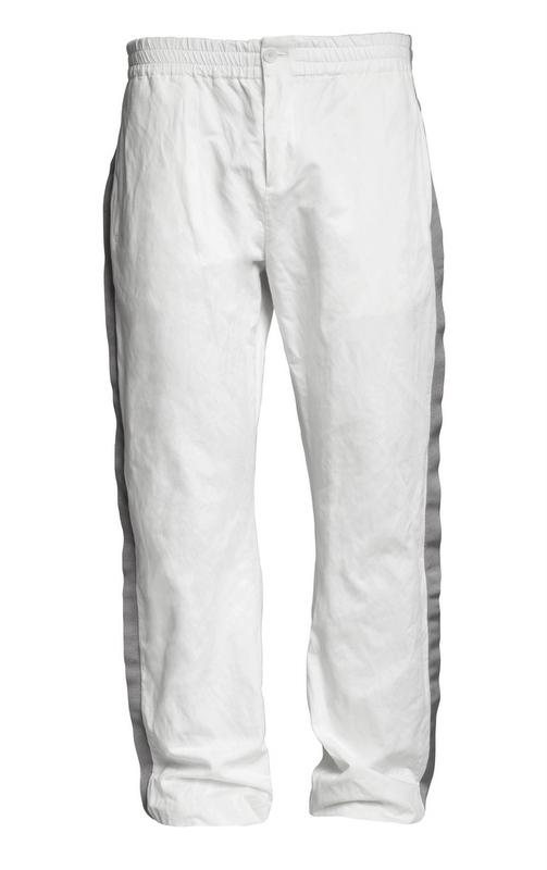 białe spodnie H&M - moda zimowa