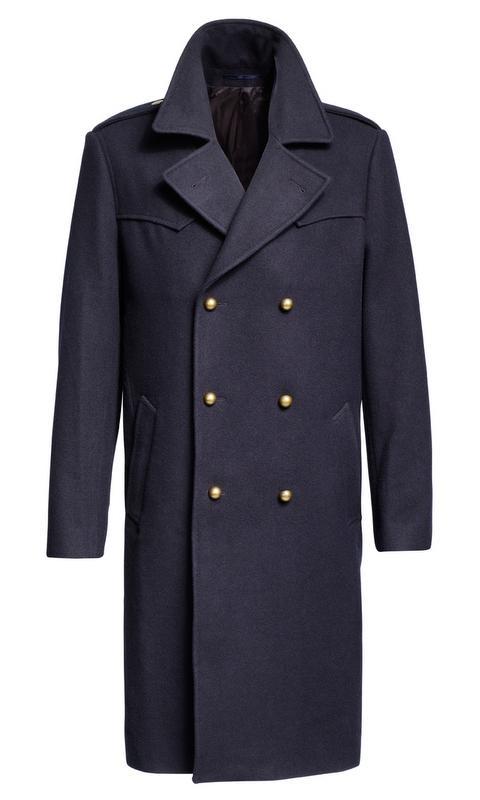 granatowy płaszcz H&M - jesień/zima 2010/2011