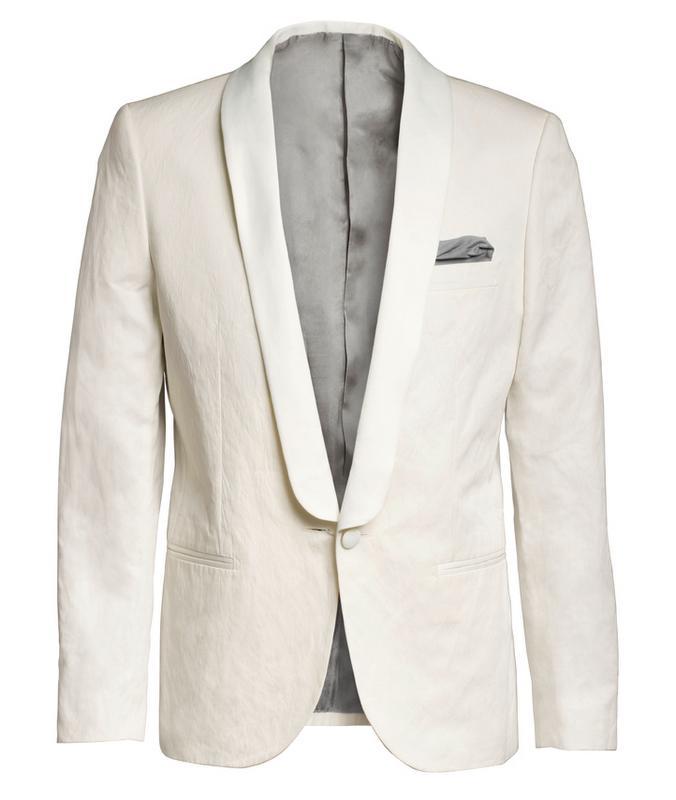 biała marynarka H&M - moda zimowa
