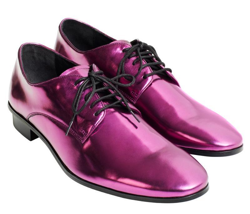 fioletowe pantofle H&M - moda zimowa