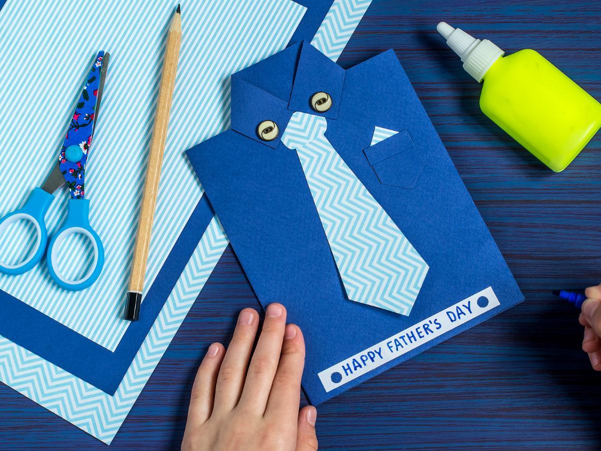 Laurka dla taty - kartka z krawatem
