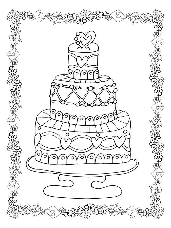 laurka na dzien chlopaka kolorowanka tort