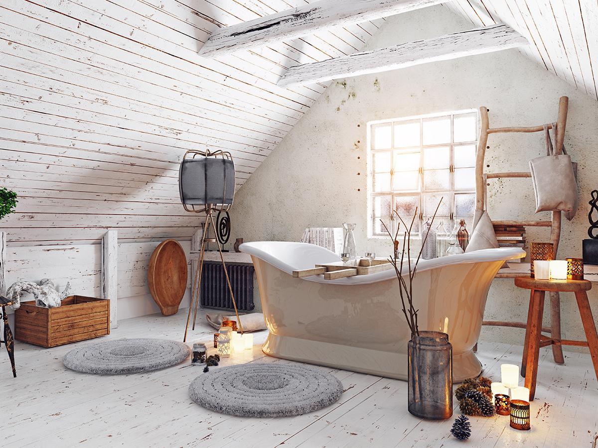 łazienka na poddaszu inspiracje