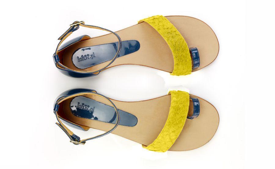 żółte sandałki loft37.pl - letnie trendy