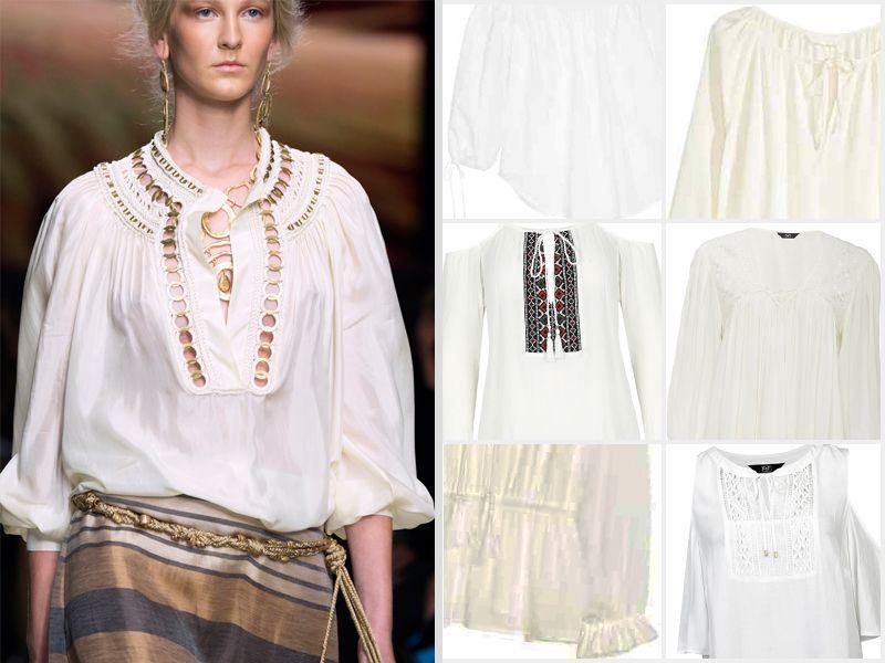 #ListaZakupów: białe bluzki w stylu boho