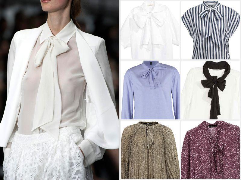 522dc2b5b47ad1 Bluzka z kokardą - Trendy wiosna-lato - Modne ubrania - Trendy ...