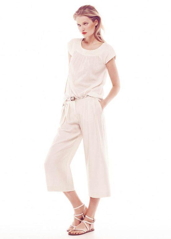 szerokie spodnie7/8 Mango - moda na lato 2013