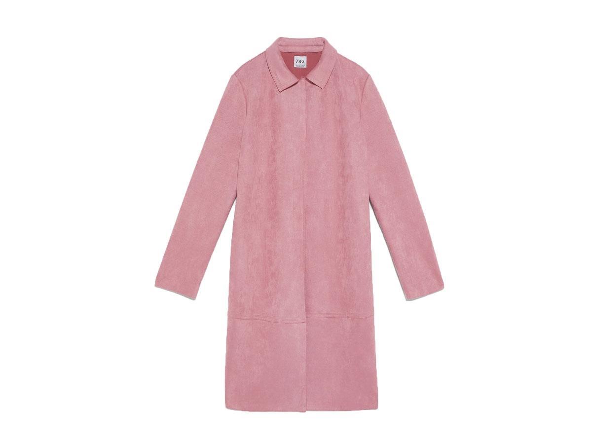Płaszcz ze sztucznego zamszu, Zara, cena ok. 139,00 zł