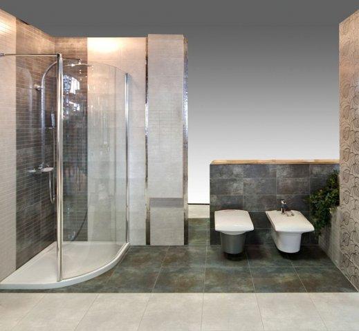 Nowoczesna łazienka W Kolorze Brązu I Szarości Max Fliz