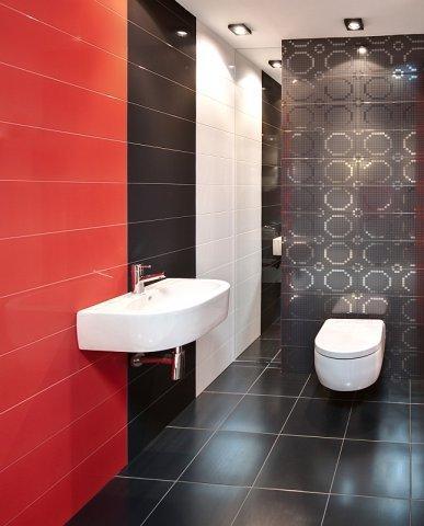 Luksusowa łazienka W Kolorze Czerwieni Czerni I Bieli Max
