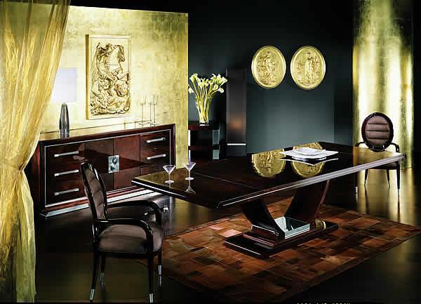 Nowoczesny stolik jadalny w kolorze gorzkiej czekolady  - aranżacja jadalni