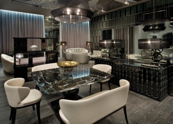 Nowoczesny stolik jadalny w kolorze przydymionej czerni - pomysły 2013