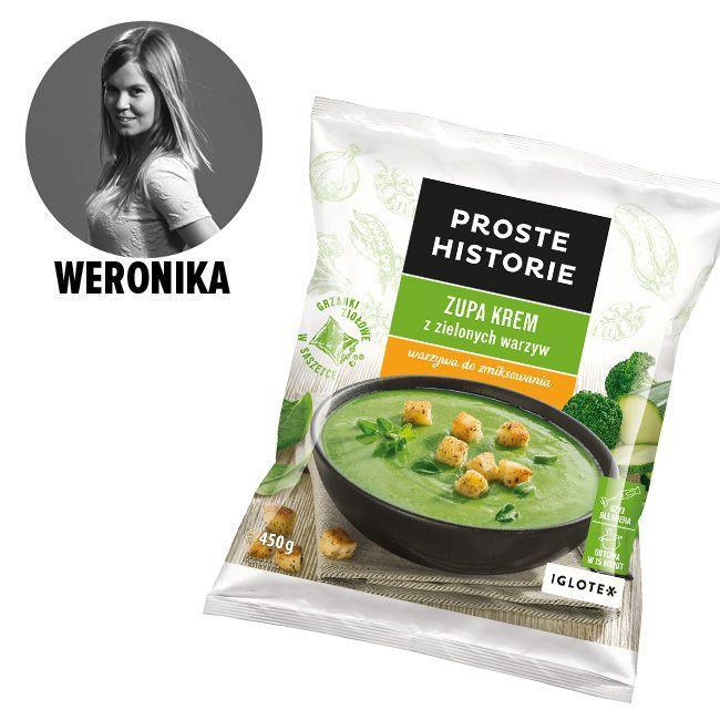 Zupa krem z zielonych warzyw, Proste Historie - cena ok. 5 zł